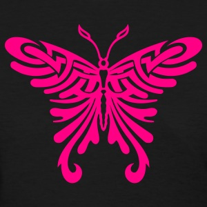 Girl´s Black Tribal Butterfly Women's T-Shirts - Women's T-Shirt
