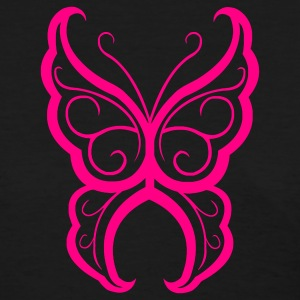Girl´s Standard Shirt Pink Butterfly (front) - Women's T-Shirt