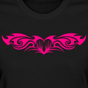 Girl´s Standard Shirt Pink Tribal Heart (front) - Women's T-Shirt
