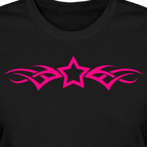 Girl´s Standard Shirt Pink Tribal Star (front) - Women's T-Shirt