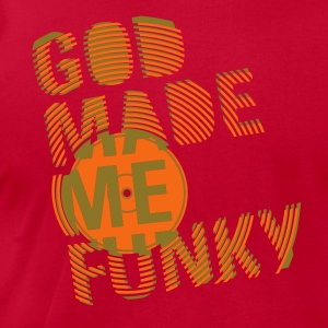 Lime GOD MADE ME FUNKY (12 INCH) T-Shirts - Men's T-Shirt by American Apparel