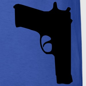 Royal blue gun T-Shirts - Men's T-Shirt