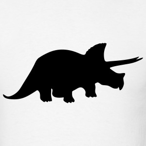 White dinosaur T-Shirts - Men's T-Shirt