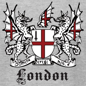 Heather grey London Crest T-Shirts - Men's T-Shirt by American Apparel
