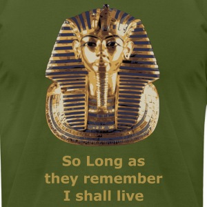 Olive King Tut T-Shirts - Men's T-Shirt by American Apparel