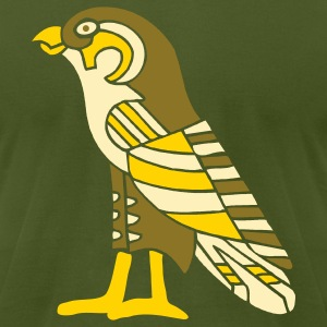 Olive egyptian_falcon_3_color_8_in T-Shirts - Men's T-Shirt by American Apparel