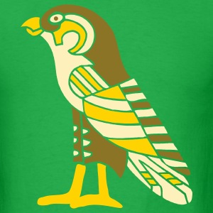 Bright green egyptian_falcon_3_color_8_in T-Shirts - Men's T-Shirt