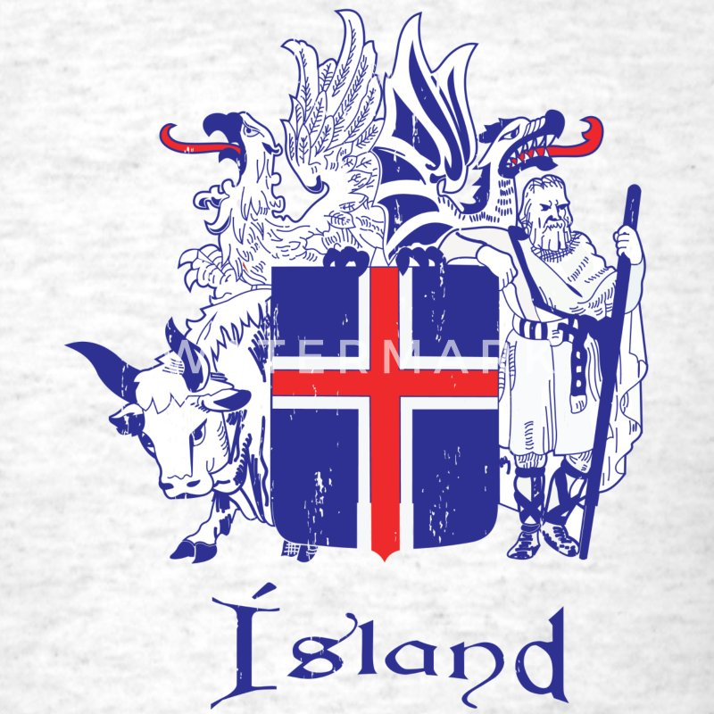 Light oxford Icelandic Crest T-Shirts - Men's T-Shirt