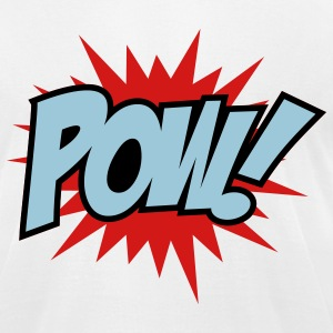 White Pow T-Shirts - Men's T-Shirt by American Apparel