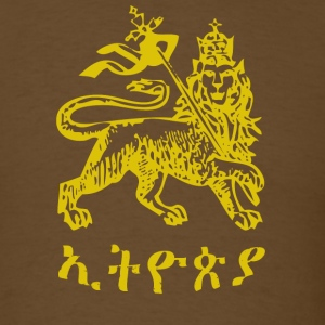 Brown Ethiopia Lion of Judah T-Shirts - Men's T-Shirt