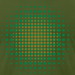 Olive BREAK OF DAWN - MOIRE PATTERN T-Shirts - Men's T-Shirt by American Apparel
