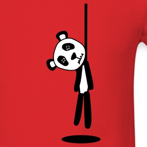 hanging panda - Men's T-Shirt