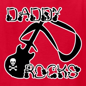 Red DADDY ROCKS Kids' Shirts - Kids' T-Shirt