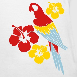 White Parrot Among Flowers Women's T-Shirts - Women's T-Shirt