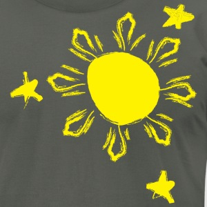 Skribble Sun n Stars - Philippines T-Shirts - Men's T-Shirt by American Apparel