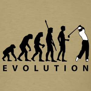 Khaki evolution_golf_a_2c T-Shirts - Men's T-Shirt