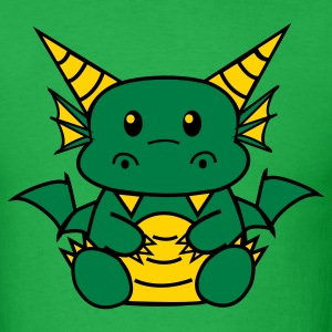 Bright green Chibi Dragon T-Shirts - Men's T-Shirt