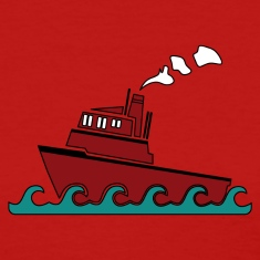 Red Tug boat Women's T-Shirts