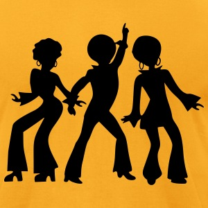 Gold dancing_people T-Shirts - Men's T-Shirt by American Apparel