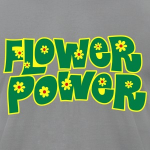Slate flower_power T-Shirts - Men's T-Shirt by American Apparel