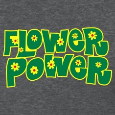 Deep heather flower_power Women's T-Shirts