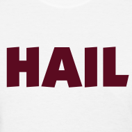 Design ~ Ladies Hail T - White