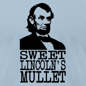 Sweet Lincoln's Mullet - Men's T-Shirt by American Apparel