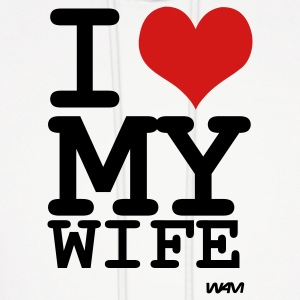 White i love my wife by wam Hoodies - Men's Hoodie