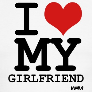 i love my girlfriend by wam T-shirts (manches courtes) - T-shirt à bords contrastants pour hommes American Apparel