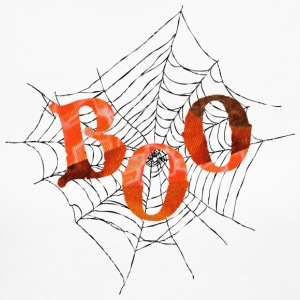 White BOO in Spider Web Long Sleeve Shirts - Women's Long Sleeve Jersey T-Shirt
