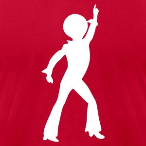 Red disco_stu T-Shirts - Men's T-Shirt by American Apparel