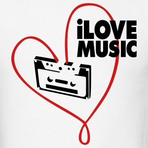 White i_love_music T-Shirts - Men's T-Shirt