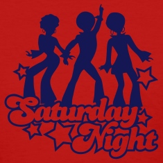 Red saturday_night1 Women's T-Shirts