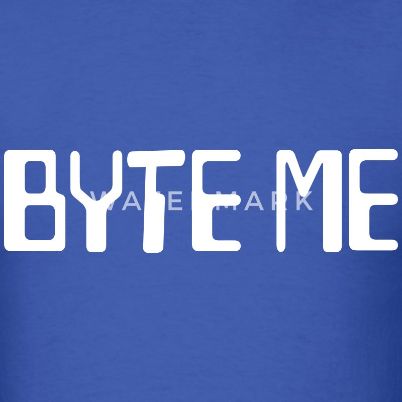 Byte Me Men's T-shirt - Men's T-Shirt