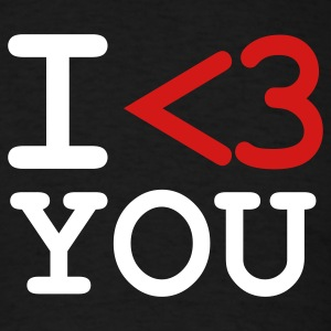 Black i love you T-Shirts - Men's T-Shirt