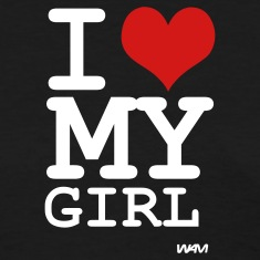 Black i love my girl by wam Women's T-Shirts