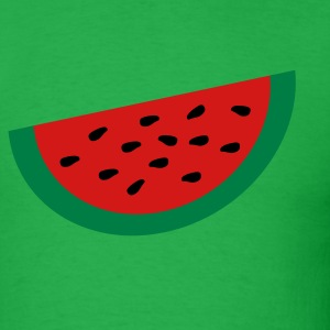 Bright green Large Watermelon Slice T-Shirts - Men's T-Shirt