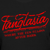 Design ~ Vintage FANGTASIA WHERE THE FUN BEGINS AFTER DARK Women's T-Shirt