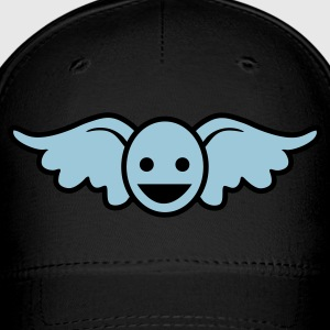 Royal blue Funny blue angel smiley face Caps - Baseball Cap