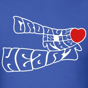 Royal blue groove_is_in_the_heart2 T-Shirts - Men's T-Shirt