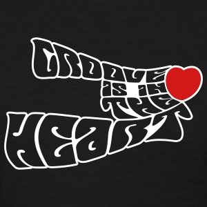 Black groove_is_in_the_heart2 Women's T-Shirts - Women's T-Shirt