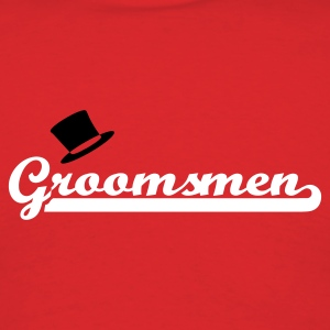 Red Groomsmen T-Shirts - Men's T-Shirt