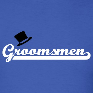 Royal blue Groomsmen T-Shirts - Men's T-Shirt