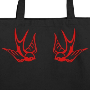 Black Tattoo birds Bags  - Eco-Friendly Cotton Tote