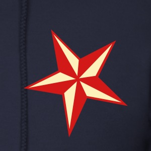 Navy nautic star Zip Hoodies/Jackets - Men's Zip Hoodie