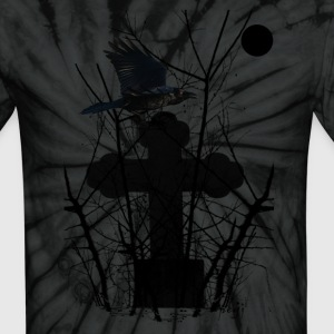 Spider black Crow On Tomb T-Shirts - Unisex Tie Dye T-Shirt
