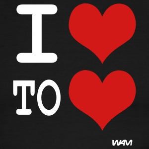 i love to love by wam T-shirts (manches courtes) - T-shirt à bords contrastants pour hommes American Apparel