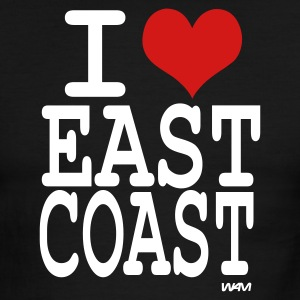 Black/white i love east coast by wam T-Shirts - Men's Ringer T-Shirt