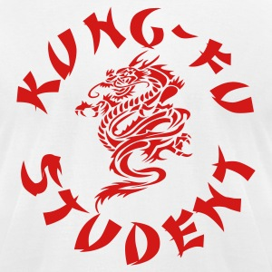 White kung fu student by wam T-Shirts - Men's T-Shirt by American Apparel