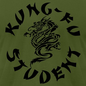 Olive kung fu student by wam T-Shirts - Men's T-Shirt by American Apparel